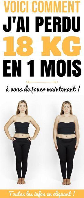 PERDRE 18 KG EN 1 MOIS | Perdre du poids, Pour maigrir, Régime