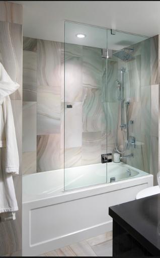 Glass Doors On Bathtub No Shower Curtain Tub With Glass Door