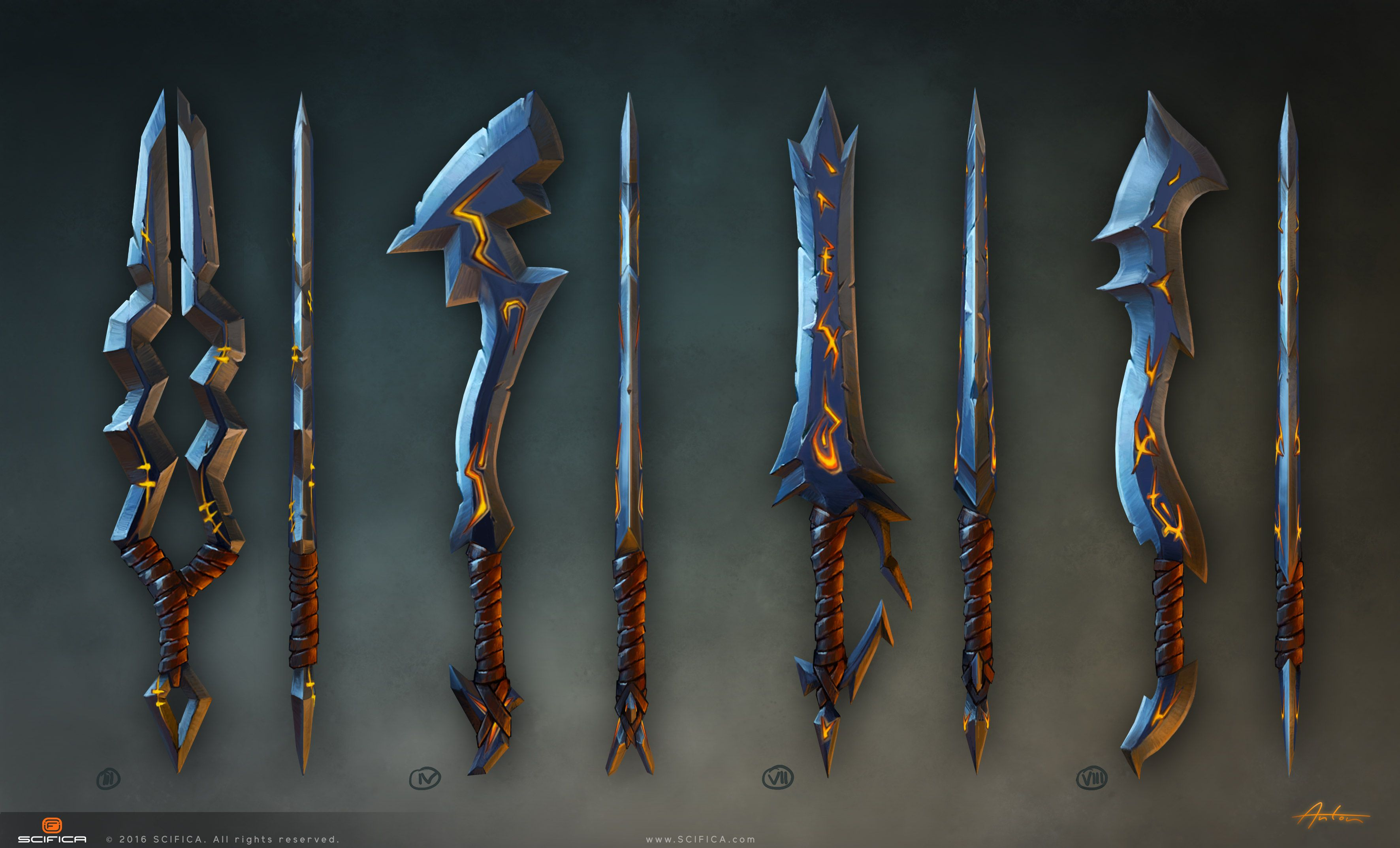 Weapons Concept Art For Video Game Made