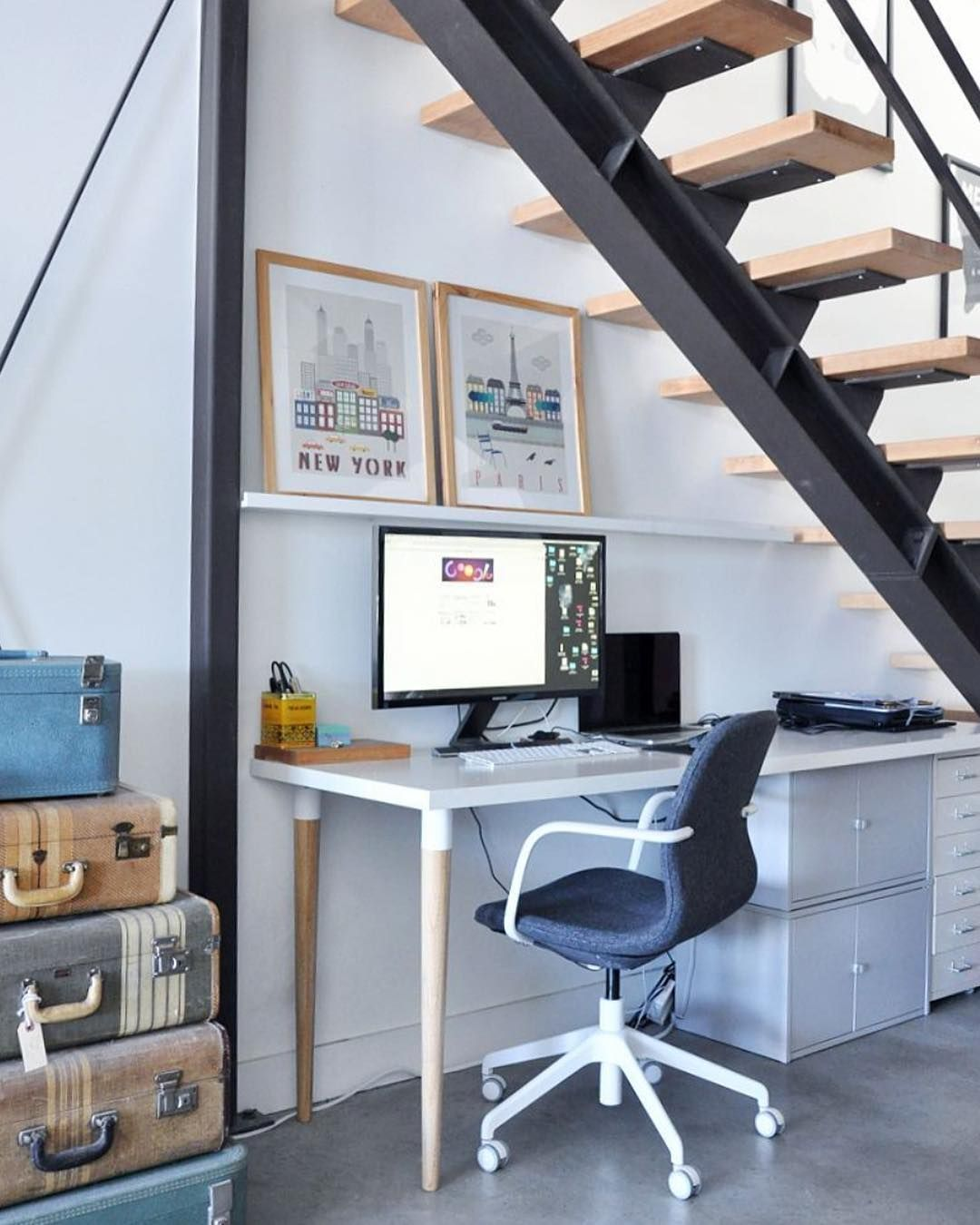 Stylish Understairs Study: Todays Featured Home Office Workspace Is By @visualheart