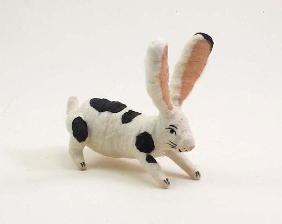 Hey, I found this really awesome Etsy listing at https://www.etsy.com/listing/206968472/spun-cotton-vintage-spotted-bunny-rabbit