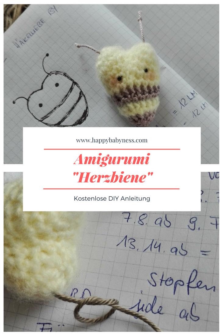 AMIGURUMI #BIENE ___ *** Kostenlose #DIY Anleitung auf Deutsch ...