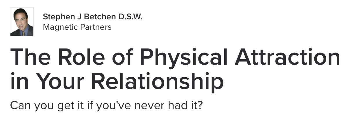 Can a relationship work without physical attraction