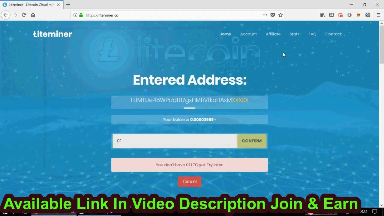 LiteMiner : New Litecoin Cloud Mining 2018 (Free 0 175 Dh/s) - free