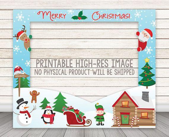 Christmas Frames Printables Decorations Ideas 2020 PRINTABLE Christmas Photo Booth Frame Holiday Party Photo | Etsy