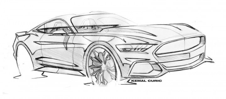 Ford Mustang Design Sketch by Kemal Curic | Design Inspiration ...