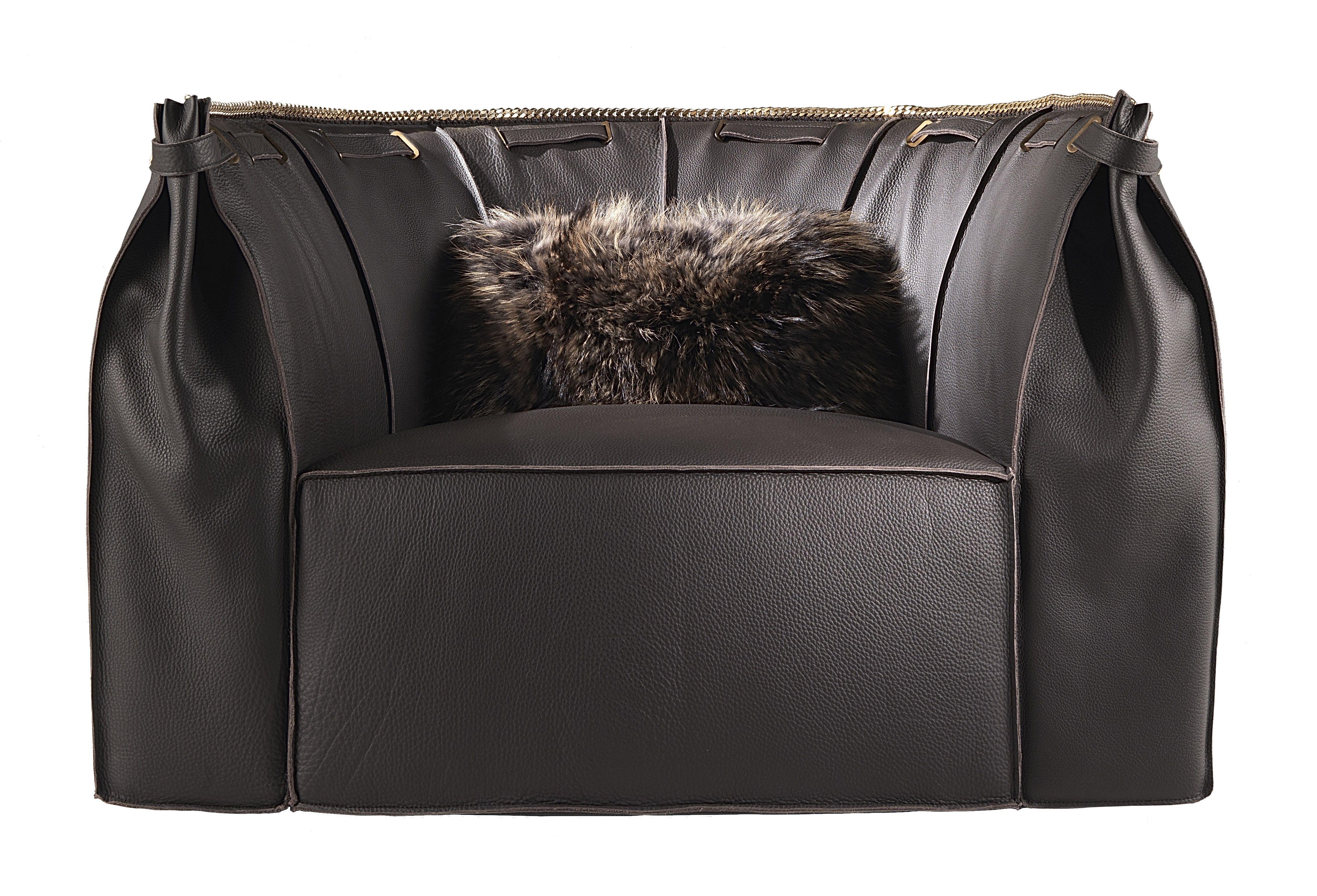 roberto cavalli florence armchair in brown furnituredesign
