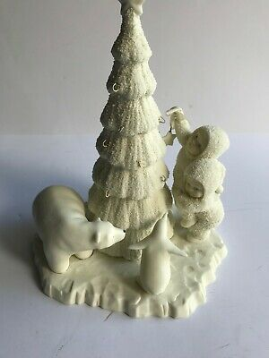 Department 56 Snow Babies Christmas Tree with Polar Bear