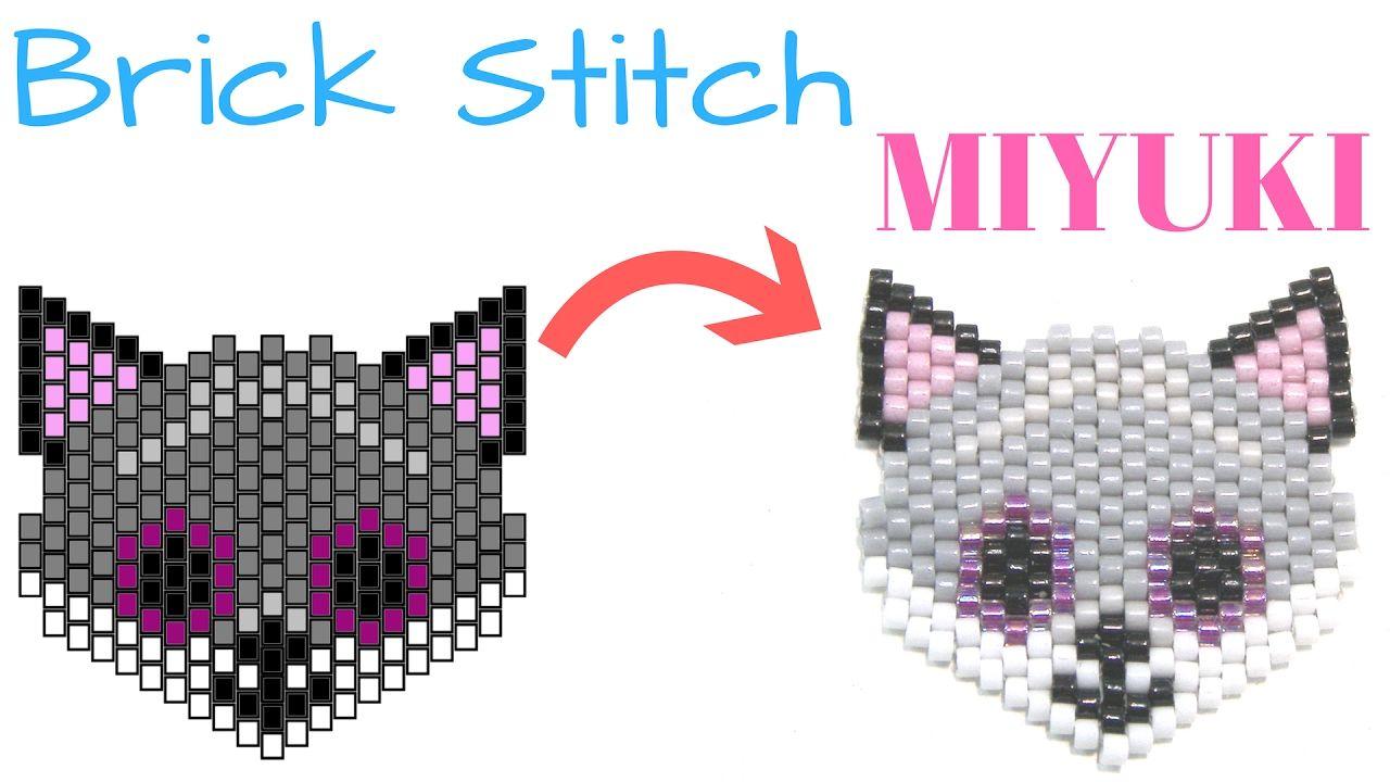 Como hacer un Zorro con Brick Stitch - Miyuki Delica | pulseras de ...