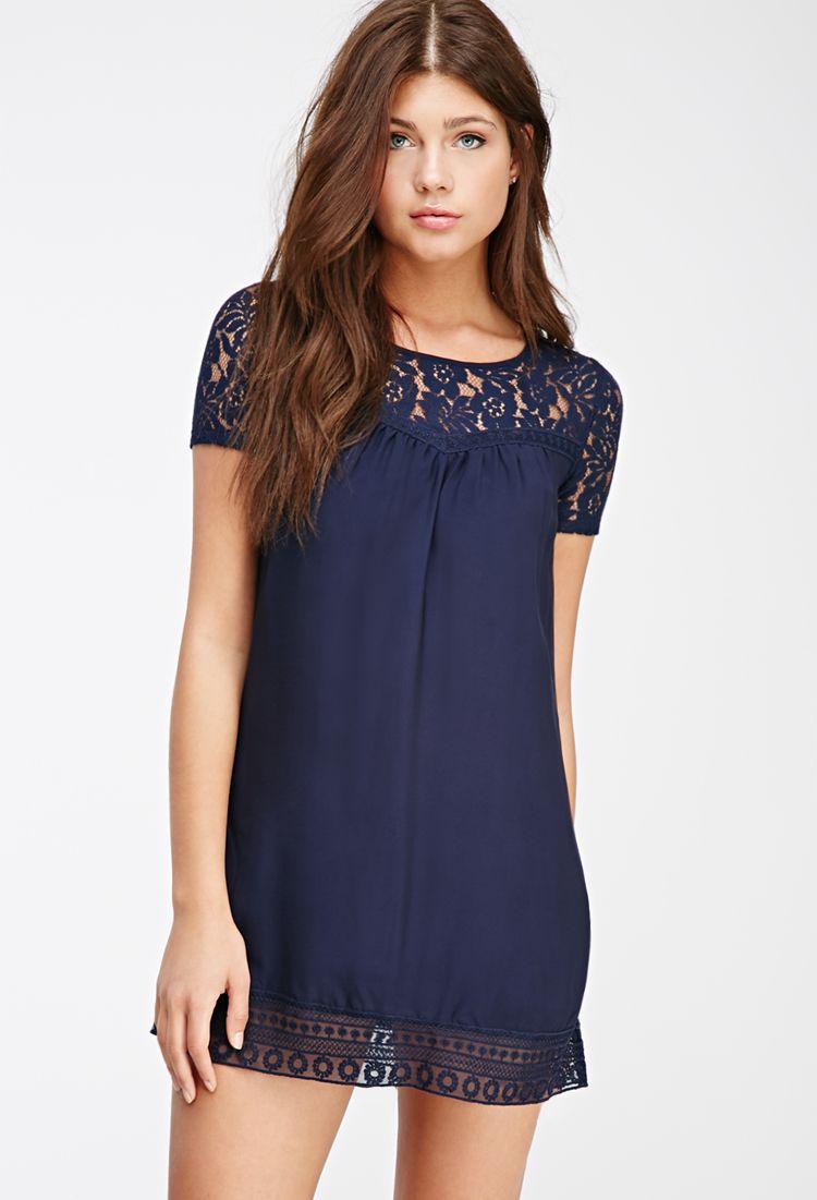 Lace Paneled Babydoll Dress Clothing Dresses Floral