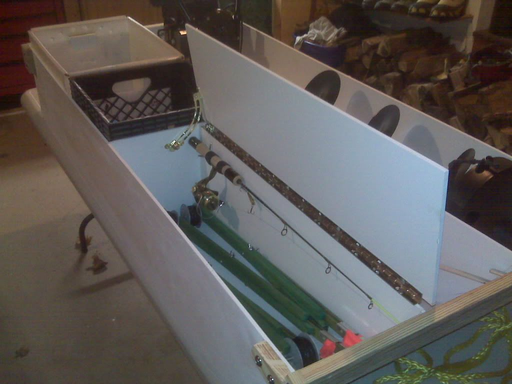 Ice fishing sled plans google search fishing for Ice fishing tackle box