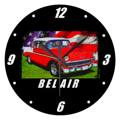 1956 Bel Air 4 Door Sedan Large Clock Large Clock Clock Bel Air