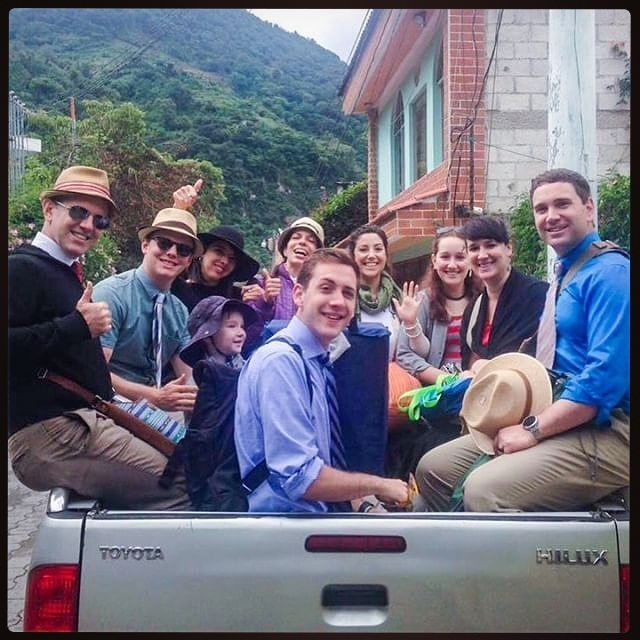 In the back of a pickup truck on our way to preach in Sololá, Guatemala. Thanks for sharing @vinnybear