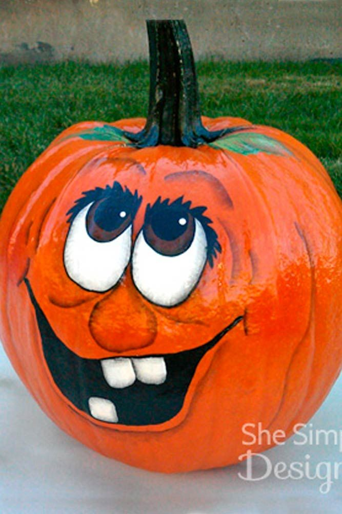 17+ Easy painted pumpkin faces inspirations