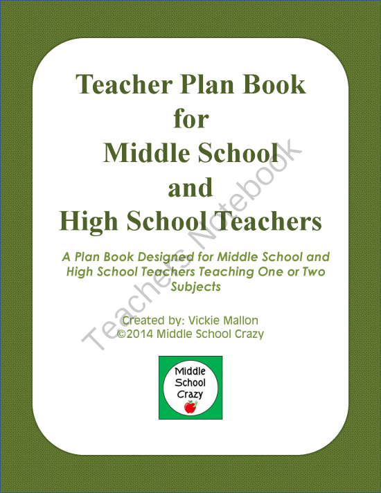 Middle Term Planning : Plan book for middle and high school teachers from