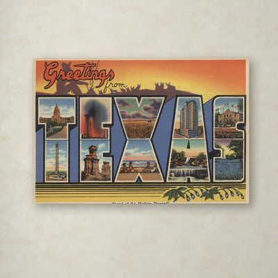 Trademark Art 'Post Card 6' Vintage Advertisement on Canvas | Wayfair, #City #NorthAmerica #NorthAmericaCities #NorthAmericaCity #NorthAmericaTravel #Travel #USA #WARKITSANDNEVIS
