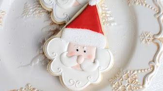 lets make santa cookies using an ice cream cone cookie cutter in this video i show you to how decorate ice cream cone cookie cutter to make santa - Christmas Cookies Decorating Ideas Youtube