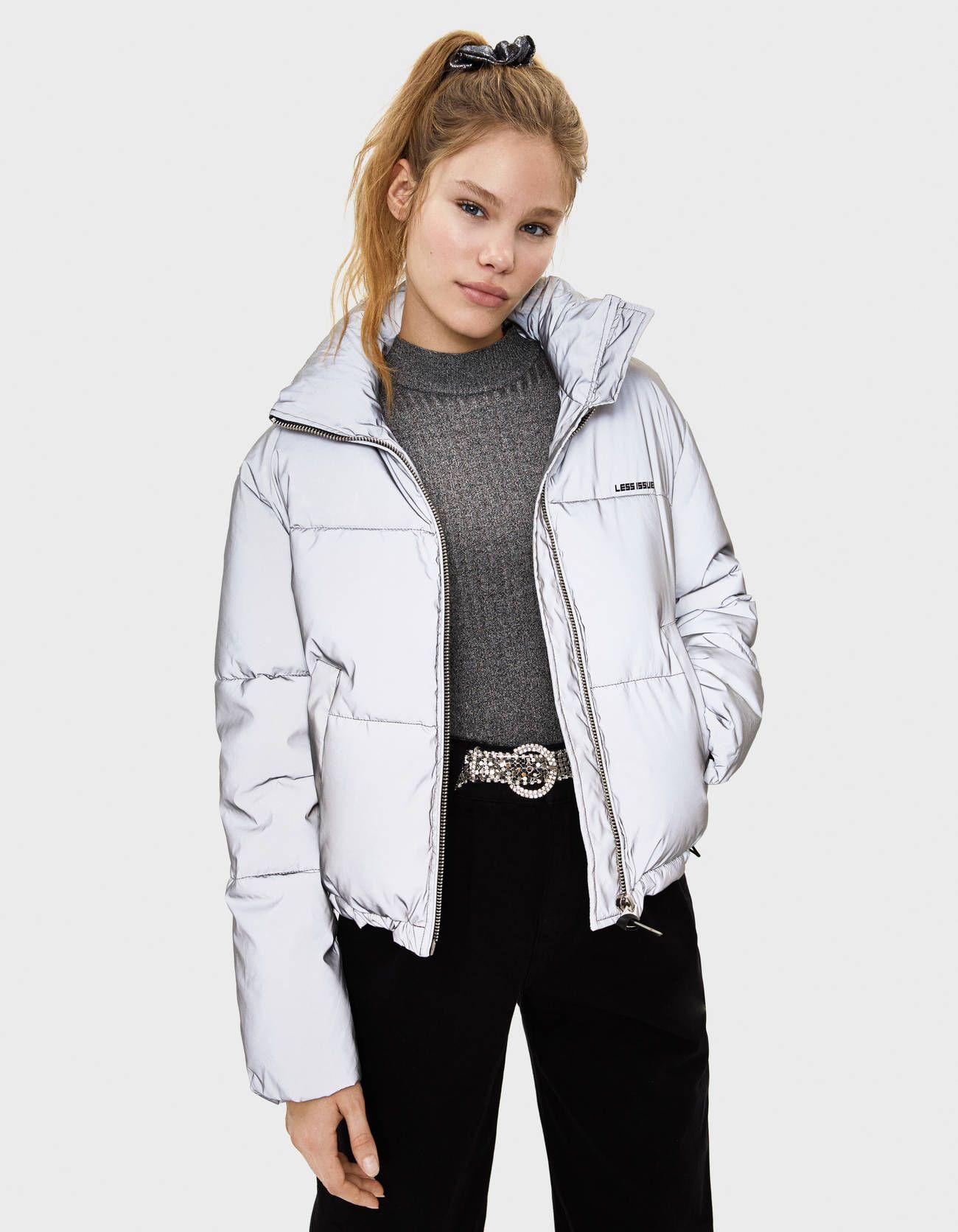 Bershka Reflective Puffer Jacket Bershka Bershkacollection New Newin Fashion Clothes Coats Print Tailoring Trend Kadin Ceketleri Kadin Modasi Mont [ 1672 x 1300 Pixel ]