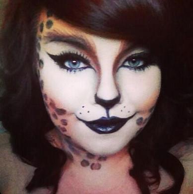 Halloween leopard print cat makeup. | Makeup | Pinterest ...