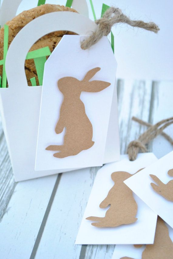 Adorable bunny silhouette gift tag perfect for neighbors gifts for adorable bunny silhouette gift tag perfect for neighbors gifts for easter negle Image collections