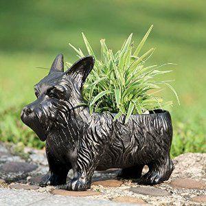 Amazon.com : SPI Home 33392 Scottie Dog Planter Box : Outdoor Decorative Stones : Patio, Lawn & Garden