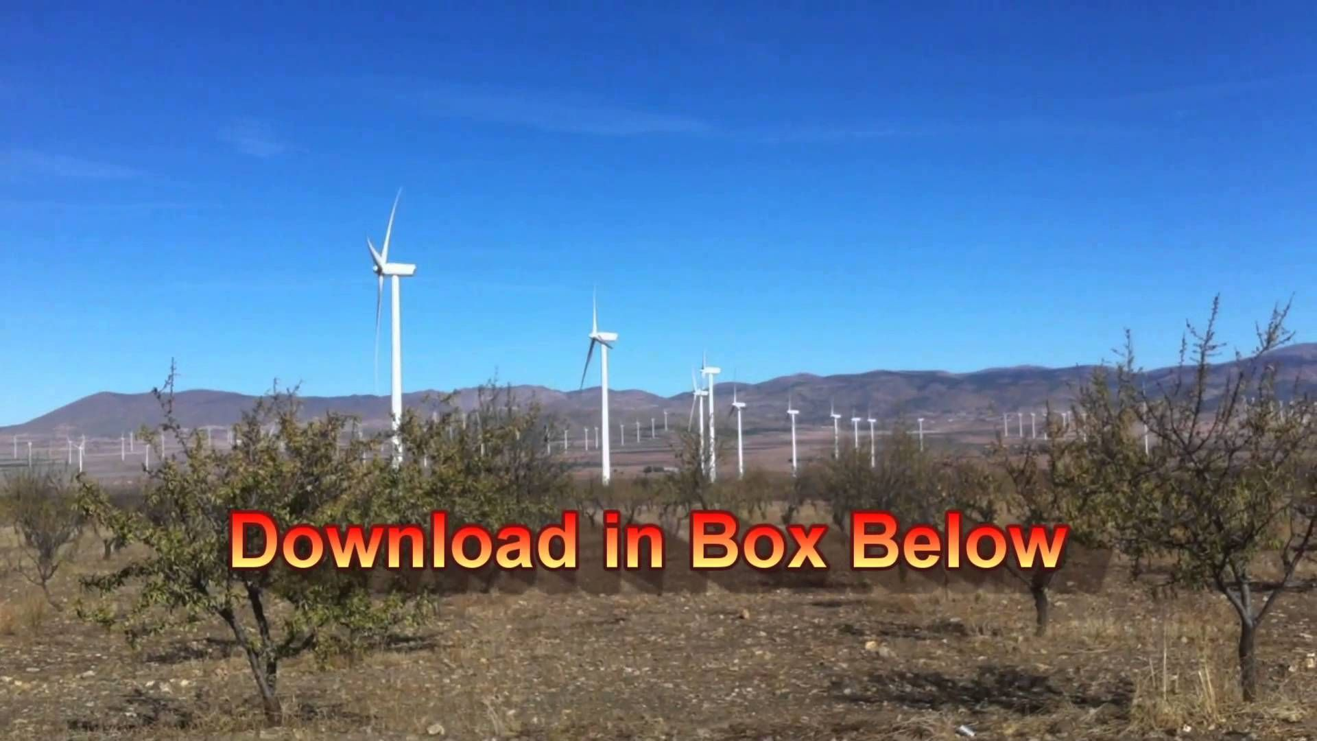 How to make wind power generators free plans here today only