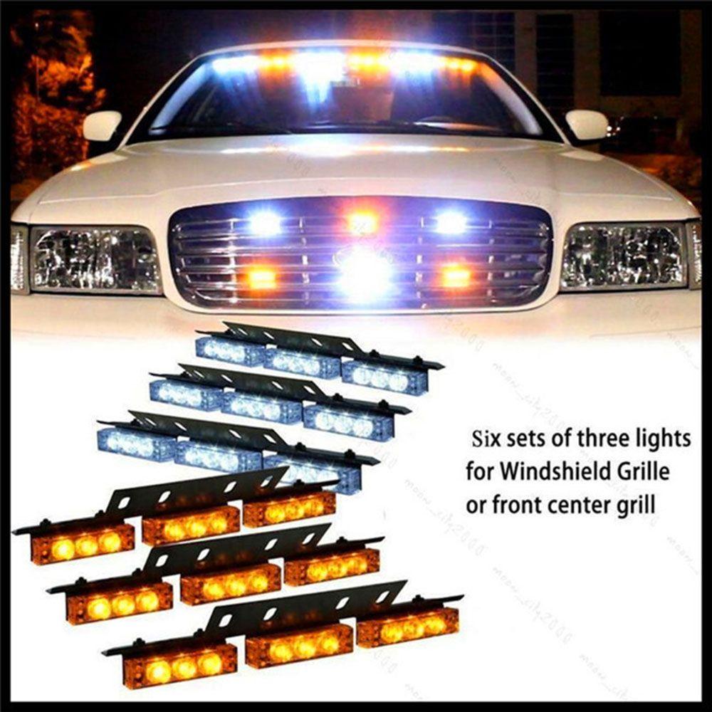 (Buy here: http://appdeal.ru/1nbu ) Hot Sale Automobiles Car Light 54 LED Emergency Car Vehicle Strobe Lights Bars Warning Amber/White for just US $54.99
