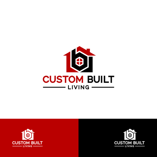 Custom Built Living Create A House With My Company Name Residential Building And Carpentry Construction Logo Logo Inspiration Company Names