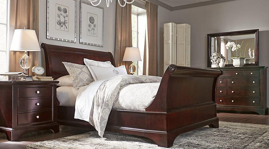 Beau Whitmore Cherry 6 Pc King Sleigh Bedroom From Furniture