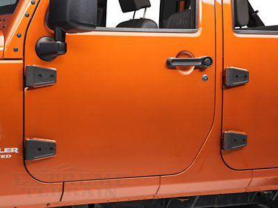 Rugged Ridge Black Wrangler Door Hinge Cover Kit 11202 05 07 15 Jk 4
