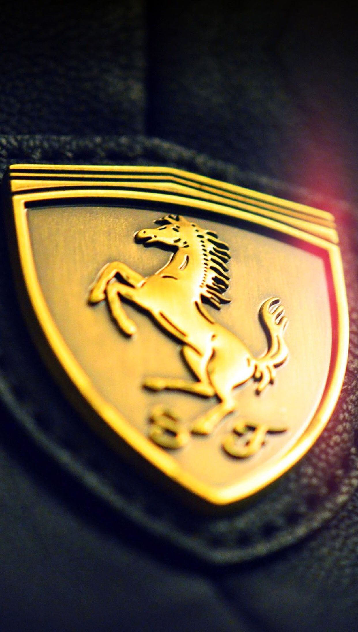 Gold Ferrari Logo With Images Ferrari Gold Wallpaper Hd
