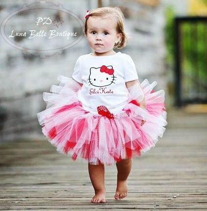 Hello Kitty girl tutu dress