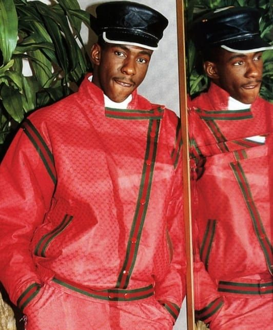 gallery dapper dan 39 s greatest creationsbobby brown in a gucci one of one in 1988 inspiration. Black Bedroom Furniture Sets. Home Design Ideas