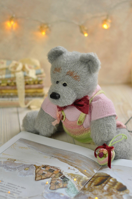 Stuffed teddy bear with heart and sweater, big teddy bear Valentine's day gifts for daughter   #babyteddybear