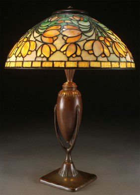 "TIFFANY STUDIOS ""TULIPS"" TABLE LAMP"