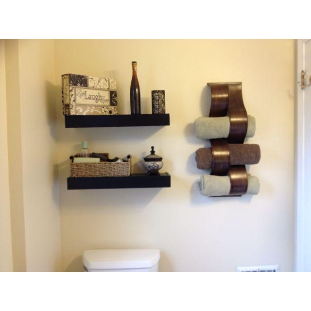 Storage Solutions For A Small Bath Wine Rack For Towels Floating - Wine rack towel storage for small bathroom ideas