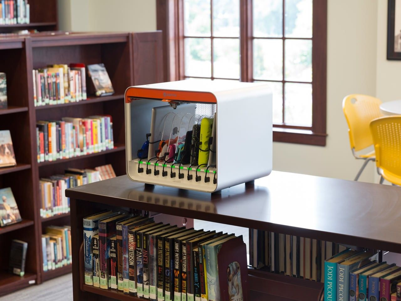 multidock ipad charging station in library edtech