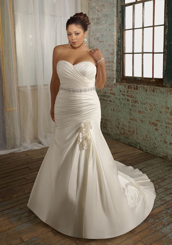 Customize Elegant Handmade Quality Fashion Fat People Plus Size Wedding Dresses Mopping The Floor Formal Dress 600x850