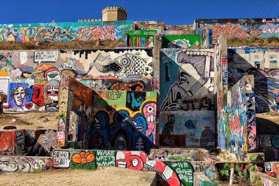 Graffiti Park - City, Art, Colorful, Photography - Austin, TX - Fine ...