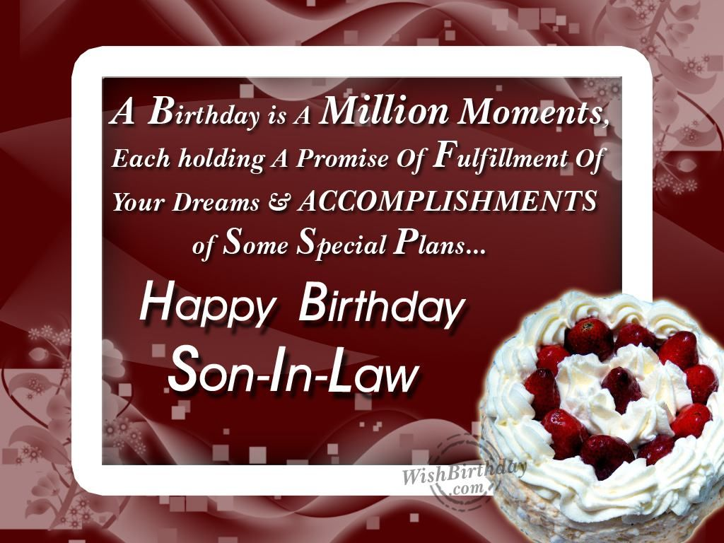 Birthday Quotes Son In Law - Bing Images