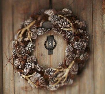 Faux Antler Wreath - contemporary - outdoor decor - Pottery Barn