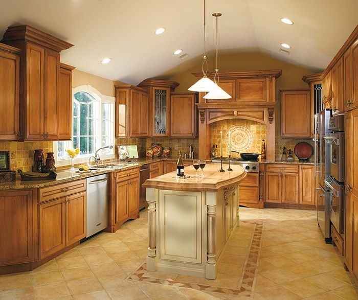 Natural Maple Kitchen Cabinets: Savannah Natural Maple Cabinets Let The Beauty Of Wood