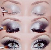 Photo of #Eye #Hochzeit #Makeup #Silber #Smokey #Wedding Weddbook ♥ Pretty, Sil