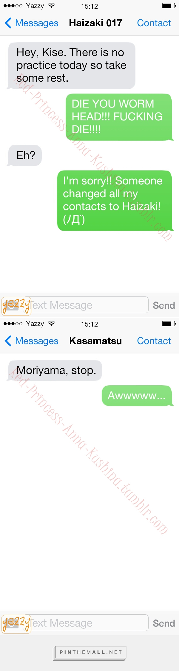 Bullying the Kouhai brought to you by Kaijo's Resident Fail Flirt A.K.A. Moriyama Yoshitaka. (Part 1)