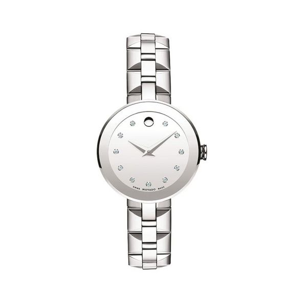 10302ff34a37 This Movado features Swiss movement