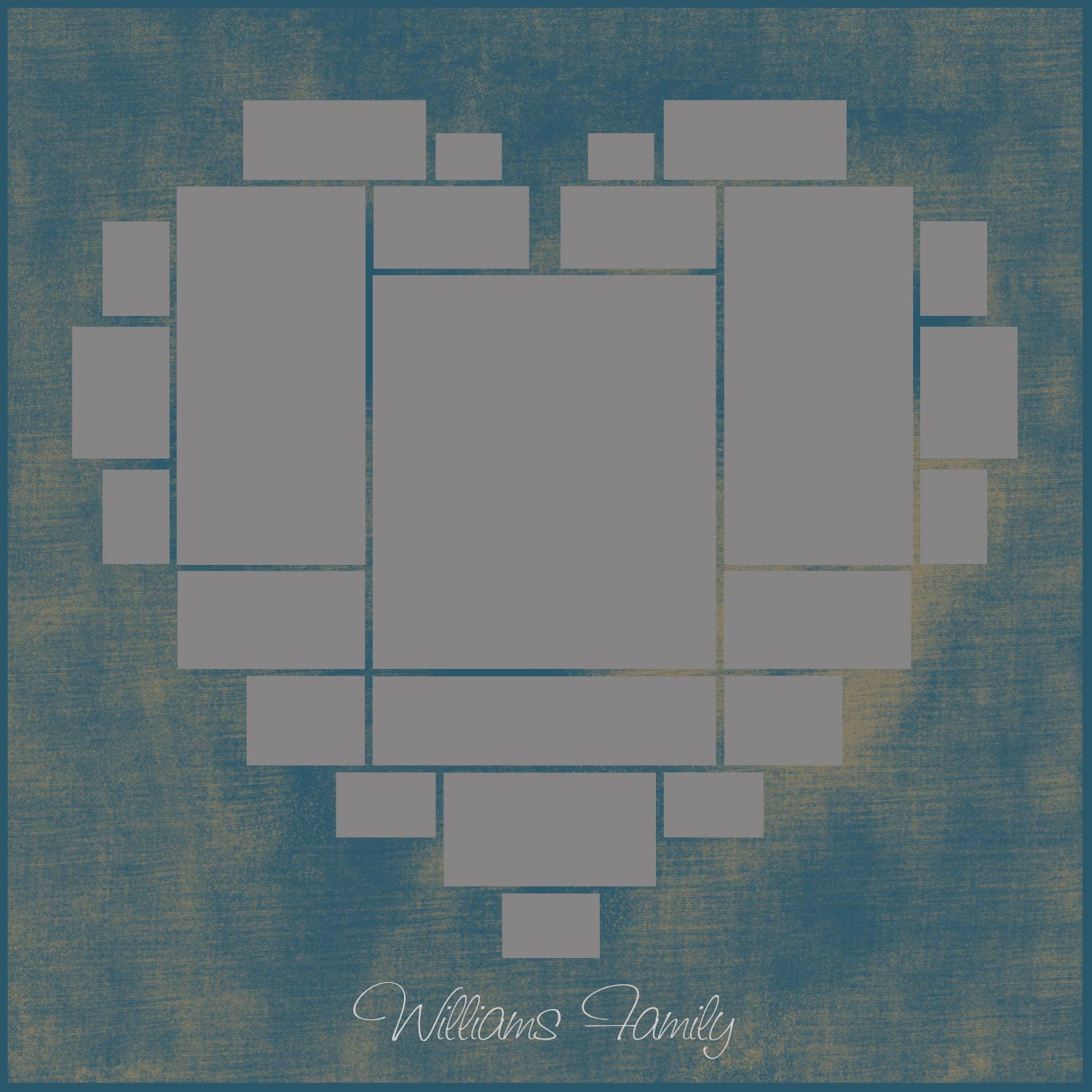 Heart Photo Collage Template Psd Wedding Gift Anniversary Gift