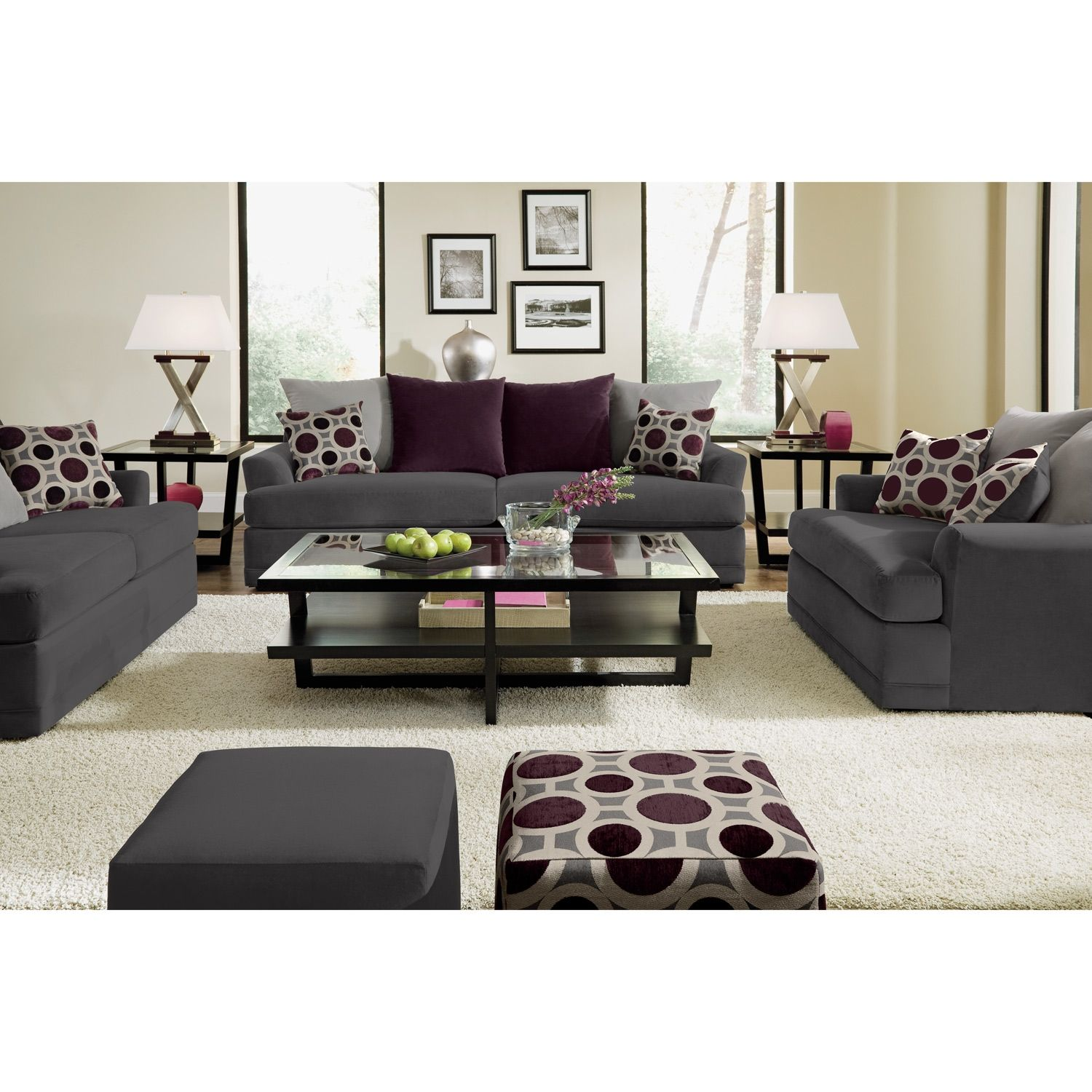 American Signature Furniture   Radiance Upholstery Sofa. Value City ...