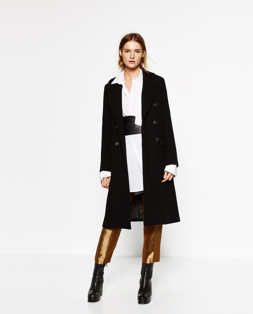 DOUBLE BREASTED WOOL COAT - NEW IN-WOMAN | ZARA United States ...
