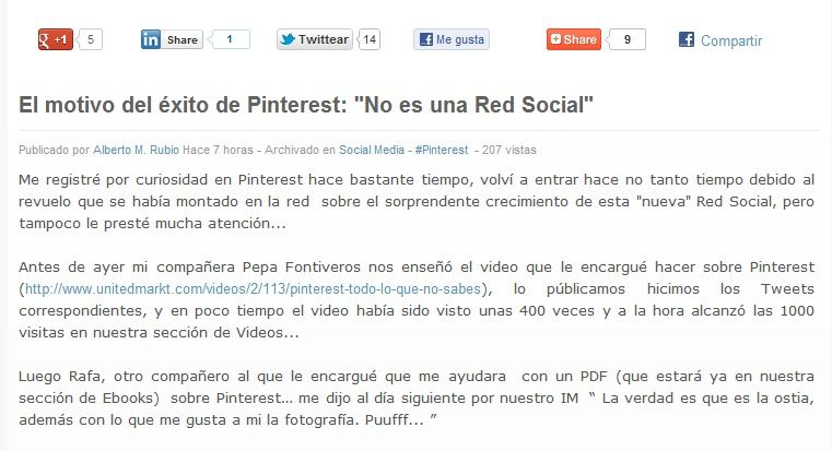 #UnitedMarkt - El motivo de éxito de #Pinterest http://bit.ly/tutorialpinterest