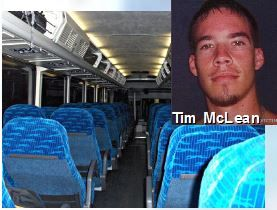 Tim McLean was the victim of a brutal attack that ended in his death at the hands of Vince Weiguang Li on the evening of July 30, 2008. McLean, a 22-year-old Canadian man, was stabbed, beheaded and cannibalized while riding a Greyhound Canada bus about 30 km west of Portage la Prairie, Manitoba traveling the Trans Canada Highway. On March 5, 2009, Li was found to be not criminally responsible for murder and was remanded to a high-security mental health facility where he currently resides.